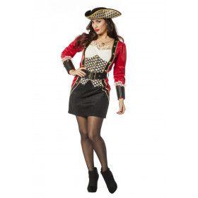Kapitein Van De Brik Piraat Vrouw Kostuum