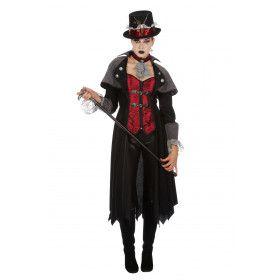 Steampunk Vampier 19e Eeuw Jas Vrouw Kostuum