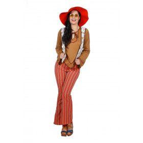 Hippie Kralingen Met Vest Vrouw Kostuum