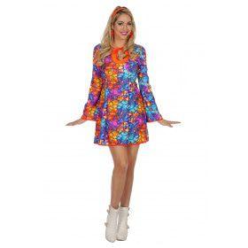 Glas In Lood Hippie Vrouw Kostuum