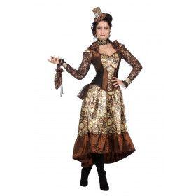 Steampunk Industriele Revolutie Vrouw Kostuum
