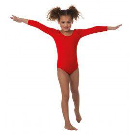 Body Lange Mouwen Misty Rood Meisje Kostuum
