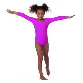 Body Lange Mouwen Misty Neon Roze Meisje Kostuum