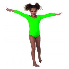 Body Lange Mouwen Misty Neon Groen Meisje Kostuum