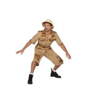 De Jungle Slaapt Nooit Safari Man Kostuum
