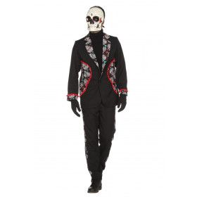 Keurig Begraafplaats Day Of The Dead Man Kostuum