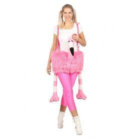 Bungelende Flamingo Hansop Kostuum