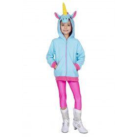 Mythisch Fabeldier Blauwe Eenhoorn Hoodie Kind