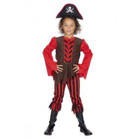 Gestreepte Kaper Piraat Petra Pistolet Meisje Kostuum