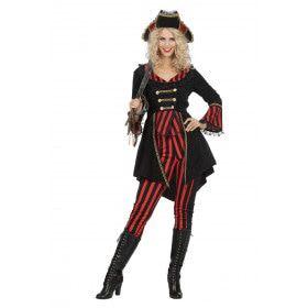 Piraat Berdine Boekanier Bahamas Vrouw Kostuum