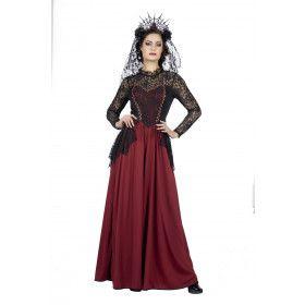 Ongenaakbare Gotische Kasteelvrouwe Kostuum