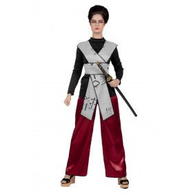 Onverstoorbare Samurai Krijger Japan Vrouw Kostuum