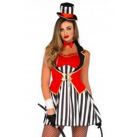 Verleidelijk Circus Ceremoniemeester Vrouw Kostuum
