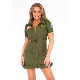 Korte Vlucht Straaljager Pilote Vrouw Kostuum