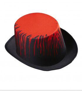 Hoge Halloween Hoed Druipend Van Het Bloed