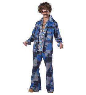 Boogie Nights Wild Patroon Man Kostuum