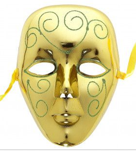 Stijlvol Masker Goud Met Glitters