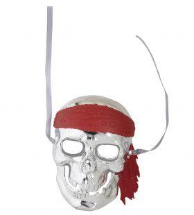Schedelmasker Piraat Zilver