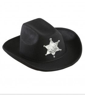 Cowboyhoed Zwart Met Sheriff Ster Kind