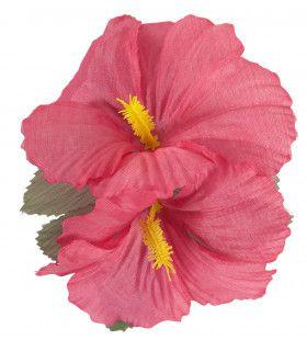 Haarclip Met Hibiscus Bloemen Roze