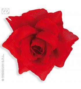 Haarclip Rode Roos, 10 Centimeter