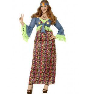 Keurige Hippie Dame Maatje Meer Vrouw Kostuum