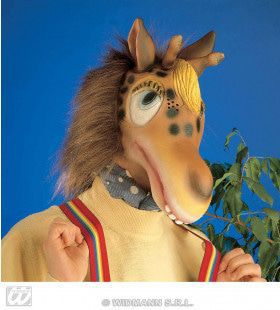 Masker Giraffe Met Pluche Haar