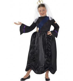 Horrible Histories Koningin Victoria Meisje Kostuum