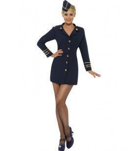 Amerikaanse Stewardess Vrouw Kostuum