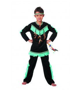 Indiaan Wishbone Klukluuk Jongen Kostuum