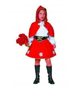 Jurkje Met Rode Cape Uit Het Bos Meisje