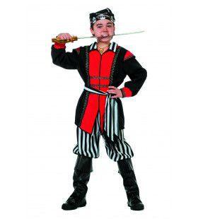 Soldadero De Piraat Zwart / Wit Streep (Jongen) Kostuum