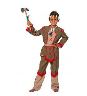 Indiaan Hiawatta Zittende Stier Jongen Kostuum