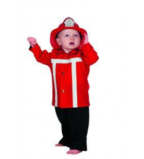 Brandweerman Sim Brandweer Rood (Baby) Kind Kostuum