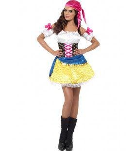 Gipsy Girl Spannend Vrouw Kostuum
