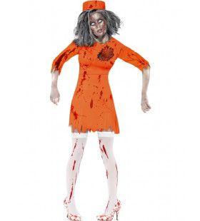 Zombie Uit De Dodencel Van De Gevangenis Vrouw Kostuum