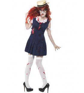 High School Horror Zombie Vrouw Kostuum
