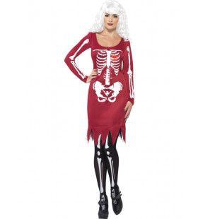 Skelet Keurige Jurk Vrouw