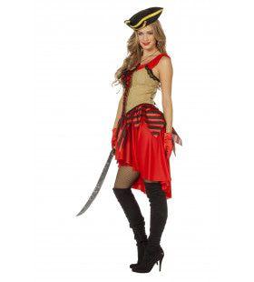 Pirate Morgan De Vechter Vrouw Kostuum