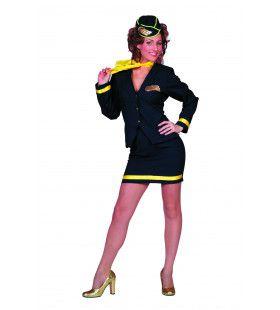 10 Miles High Stewardess Luxe Vrouw Kostuum