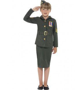 2e Wereldoorlog Legermeisje Kostuum