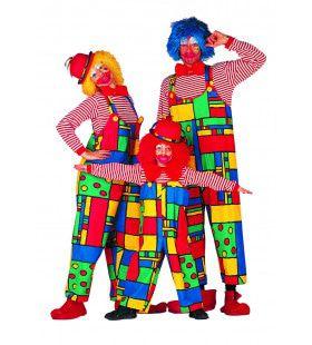 Lachwekkende Mondriaan Clown Vrouw Kostuum