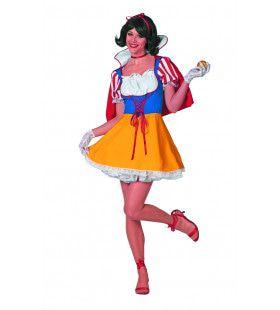 Onschuldige Sneeuwwitje Wit Prinsesje Vrouw Kostuum