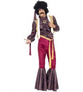 Jaren 70 Psychedelische Hippie Man Kostuum