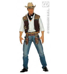 Cowboy Vest Met Bandana Man Kostuum