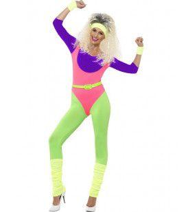 Jaren 80 Aerobic Vrouw Kostuum