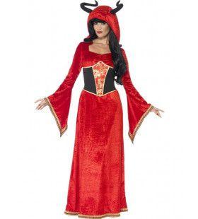 Duivelskoningin Vrouw Kostuum