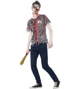 Zombie Honkbalspeler Tienermaat Jongen Kostuum
