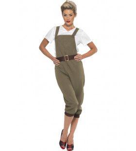 2e Wereldoorlog Soldate Vrouw Kostuum