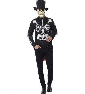 Doodgraver Skeletpak Man Kostuum